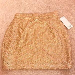 NWT gold sequin Tobi skirt